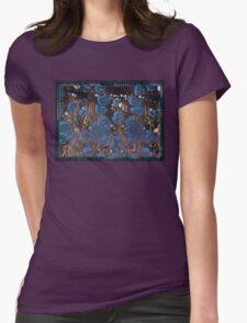 marbled paper - blue mushroom 2 layer T-Shirt