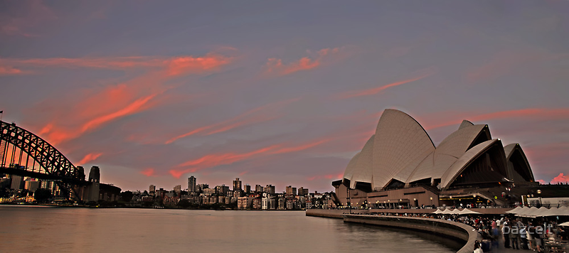 Sydney Icons at Sunset by bazcelt