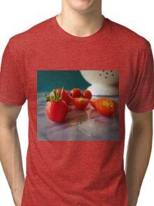 Fallen Cherry Tomatoes Tri-blend T-Shirt