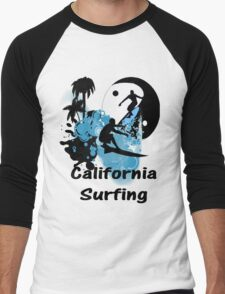 California Surfing Men's Baseball ¾ T-Shirt