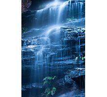 Blue Cascade Photographic Print