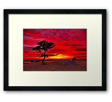 """""""The Sky Is All Ablaze"""" Framed Print"""
