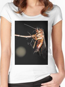 Cockroach on a stick Women's Fitted Scoop T-Shirt
