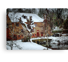 The White Mill Canvas Print
