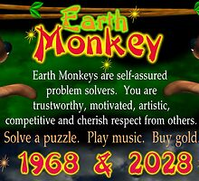 Chinese Zodiac, Earth Monkey born,1968, 2028,  Valxart by Valxart
