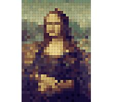 8-bit Mona Lisa Pixel Art Photographic Print