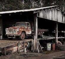 The Truck in the Barn by Peter Evans