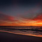 Beach Sunset Panorama by EdPettitt