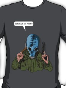 "Dead Man's Shoes ""Dance at my party"" Comic Style Illustration  T-Shirt"