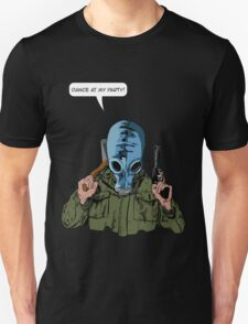 """Dead Man's Shoes """"Dance at my party"""" Comic Style Illustration  Unisex T-Shirt"""