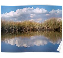 Sawgrass Water Sky and clouds 1 Poster