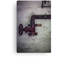 The Red Pipe Canvas Print