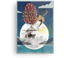 Flying Bicycle Metal Print