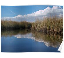 Sawgrass Water Sky and clouds 3 Poster