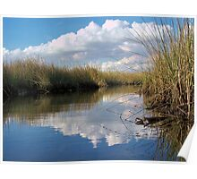 Sawgrass Water Sky and clouds 4 Poster
