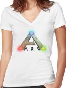 ARK Survival Evovled Women's Fitted V-Neck T-Shirt