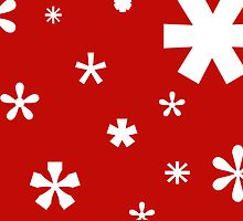 Typographic Star/Snow, Christmas Card by khuship