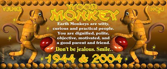 Chinese Zodiac,wood monkey ,born 1944, 2004, Valxart.com by Valxart