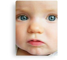 Blue Eyed Baby Canvas Print