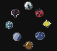 Johto Gym Badges by Warlock85