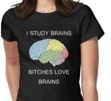 I Study Brains Womens Fitted T-Shirt