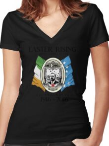 James Connolly - Irish Citizen Army Women's Fitted V-Neck T-Shirt