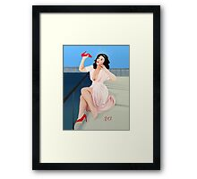 Vintage Pin up - It aches! Framed Print
