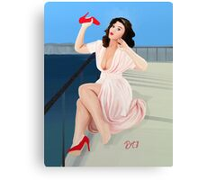 Vintage Pin up - It aches! Canvas Print