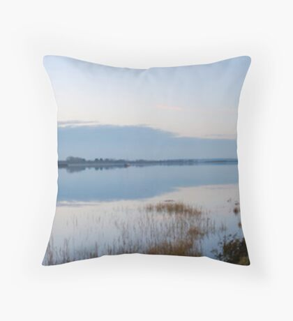 Riverside at Dusk Throw Pillow