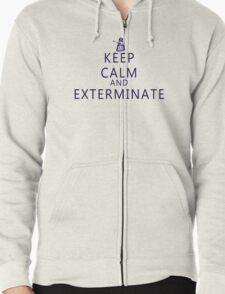 Keep Calm and Exterminate Dalek Zipped Hoodie