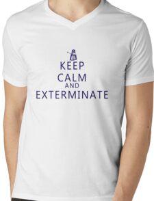 Keep Calm and Exterminate Dalek Mens V-Neck T-Shirt