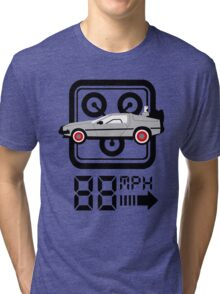 88mph Delorian Tri-blend T-Shirt