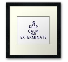 Keep Calm and Exterminate Dalek Framed Print