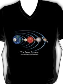 The Solar System - (According to Apple Maps) T-Shirt