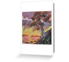 Cypress Sun Greeting Card