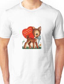 vintage cute little deer dear valentine campy tee  Unisex T-Shirt