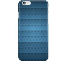 Handsome Blue Geometric Triangle Abstract Pattern iPhone Case/Skin