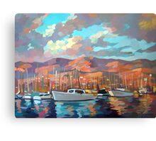 Boats in Santa Barbara Metal Print
