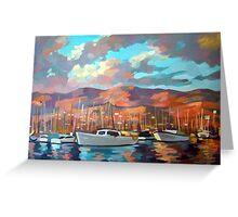 Boats in Santa Barbara Greeting Card