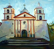 Santa Barbara Mission by painterflipper