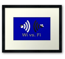 Wi vs. Fi Framed Print