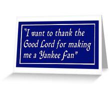 Yankee Fan Greeting Card