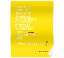 """What About Lunch?"" Poster"