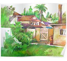 Backyard in Fullerton Poster