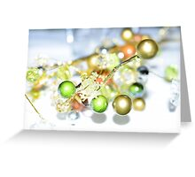 Gold Baubles Greeting Card