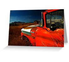 Red Chevy Greeting Card