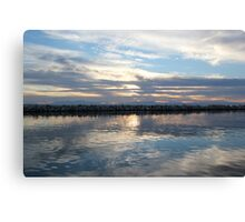 Mirror sea Canvas Print