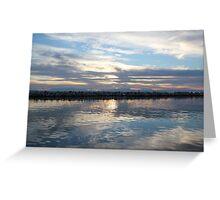 Mirror sea Greeting Card