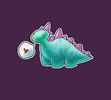 Baby Dinosaur Womens Fitted T-Shirt