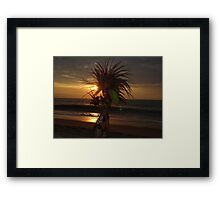Aztec Worrior Dancing For The Sun - Guerrero Azteca Bailando Por El Sol Framed Print